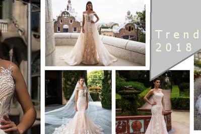 TRENDY w sukniach ślubnych 2018 - TOP7